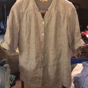 Jones of NY Chambray linen tunic